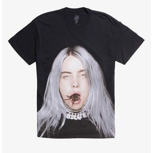 Billie Eilish Spider In Mouth Tee Black Small